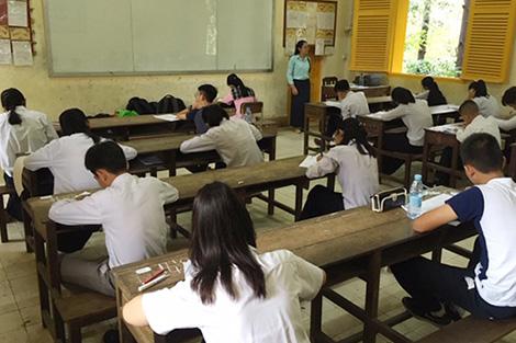 カンボジアでの検定実施